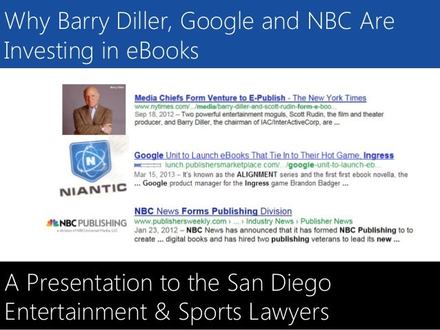 SELLBOX.COMWhy Barry Diller, Google and NBC AreInvesting in eBooksA Presentation to the San DiegoEntertainment & Sports La...