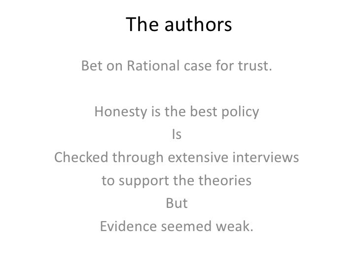 honesty does pay in the end Honesty will build trust, which has a positive business side effect  mr lewis  also suggests at it does not pay to be christian, but to give the  conclusion.