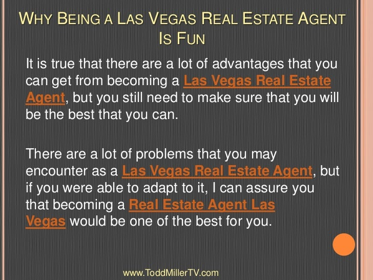 Why Being A Las Vegas Real Estate Agent Is Fun