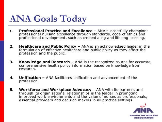 ana and the nine provisions The ana code of ethics for nurses serves the following purposes: it is a succinct statement of the ethical obligations and duties of every individual who enters the nursing profession it is the profession's nonnegotiable ethical standard.