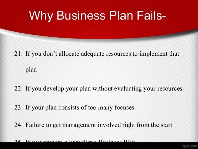 Reasons why business plan fail descriptive essays written in third person
