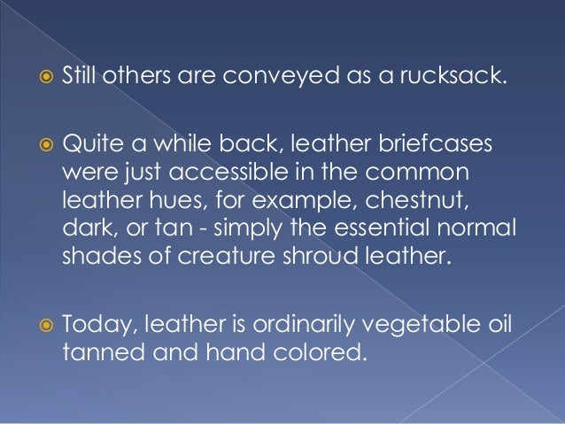 Why Buy a Leather Briefcases