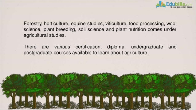 Science Knowledge About Agriculture And The Food Production
