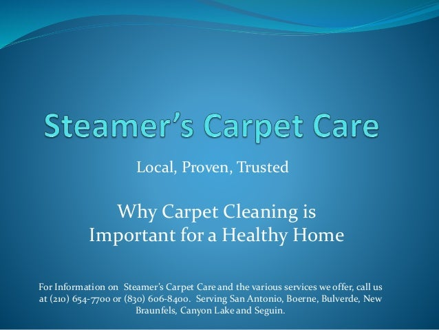 Why Carpet Cleaning Is Important For A Healthy Home