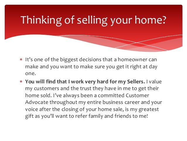 Selling your home pictures