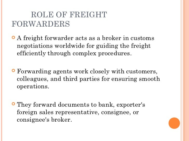 Image result for role of freightforwarder