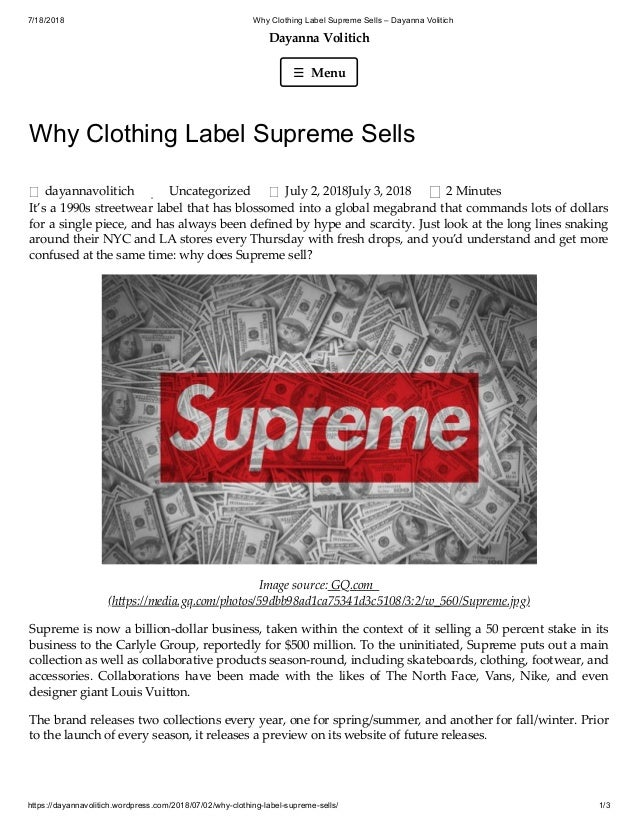 34e284f7 7/18/2018 Why Clothing Label Supreme Sells – Dayanna Volitich https:/ ...