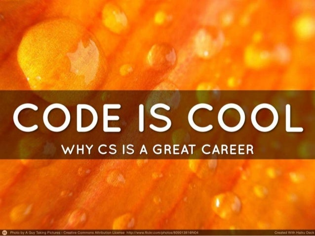 Why coding is a cool career