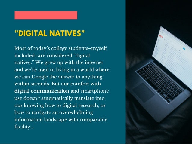 Jake Croman | Why College Students Need to Develop Digital Research Skills Slide 2