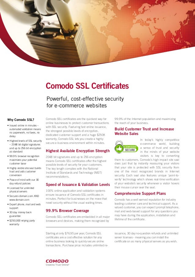 Why Comodo Ssl Certificates For Your Website