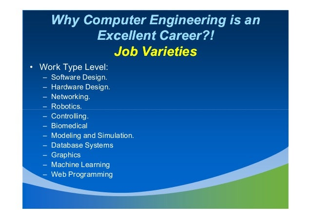 Why computer engineering