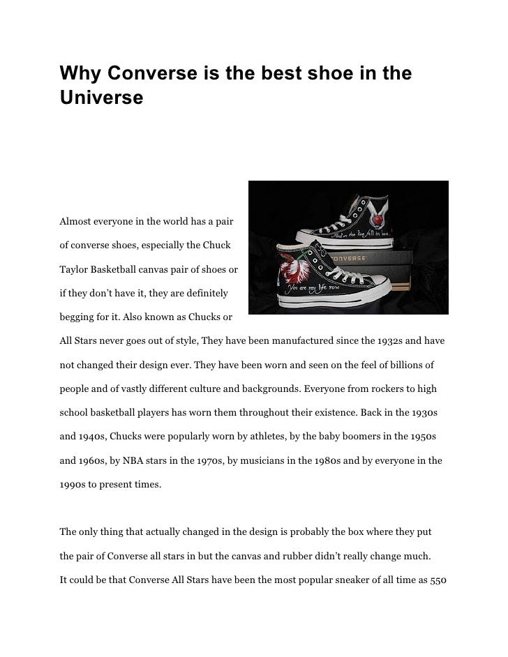 proveedor oficial numerosos en variedad niño Why converse is_the_best_shoe_in_the_universe