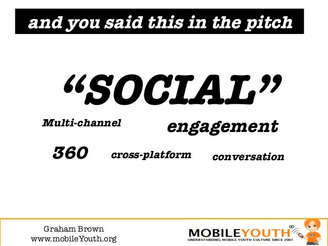 """and you said this in the pitch     """"SOCIAL""""  Multi-channel                            engagement    360          cross-pla..."""