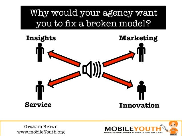 Why would your agency want      you to fix a broken model?   Insights           Marketing   Service            Innovation  ...