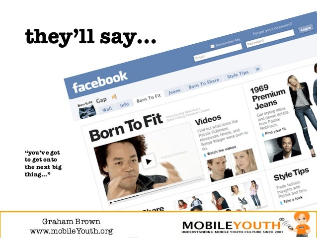 """they'll say…""""you've gotto get ontothe next bigthing…""""   Graham Brown! www.mobileYouth.org"""