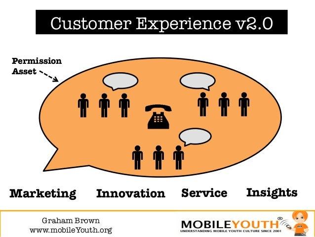 Customer Experience v2.0PermissionAssetMarketing        Innovation   Service   Insights     Graham Brown!   www.mobileYout...