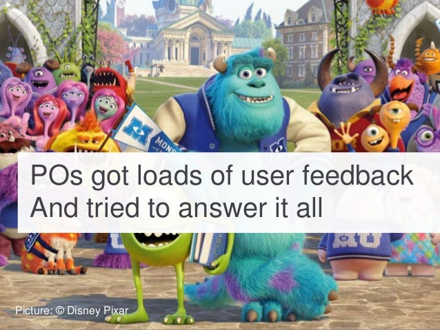 POs got loads of user feedback And tried to answer it all Picture: © Disney Pixar