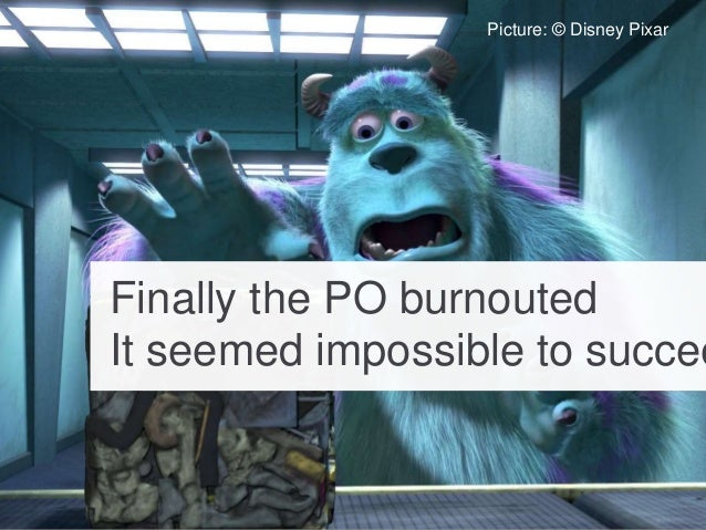 Finally the PO burnouted It seemed impossible to succee Picture: © Disney Pixar
