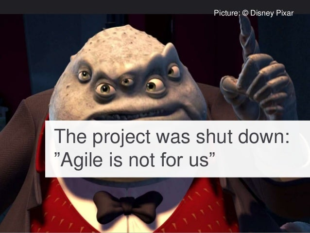 """The project was shut down: """"Agile is not for us"""" Picture: © Disney Pixar"""