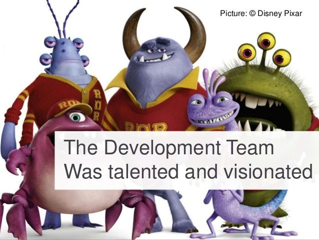 Picture: © Disney Pixar The Development Team Was talented and visionated