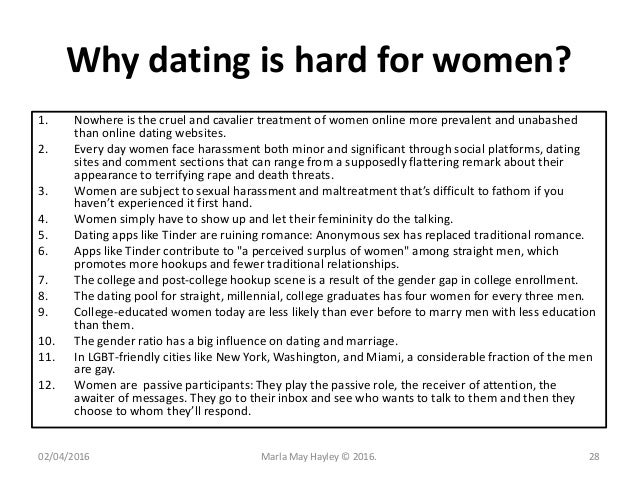 Dating seems so hard