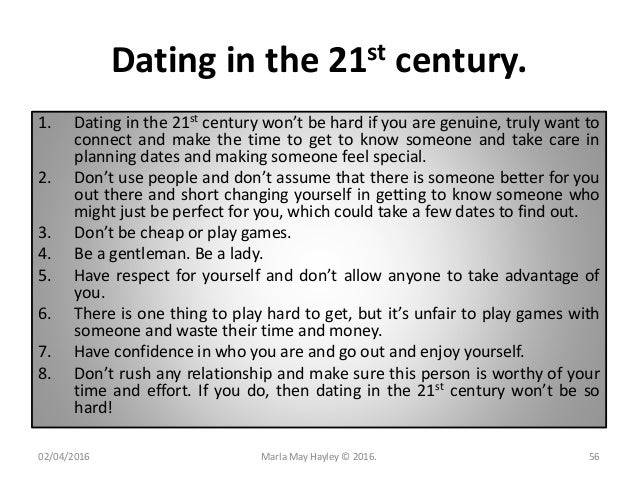 And The Century 21st Dating Love In