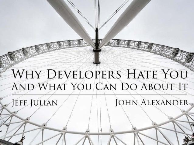 WHY DEVELO A AND WHAT YOU CAN DO ABOUT IT   / JEFF JULIAN A JOHN ALExAN~D1=. R A  /   /  ' J  A,   A.   J  J   ~      9- '...