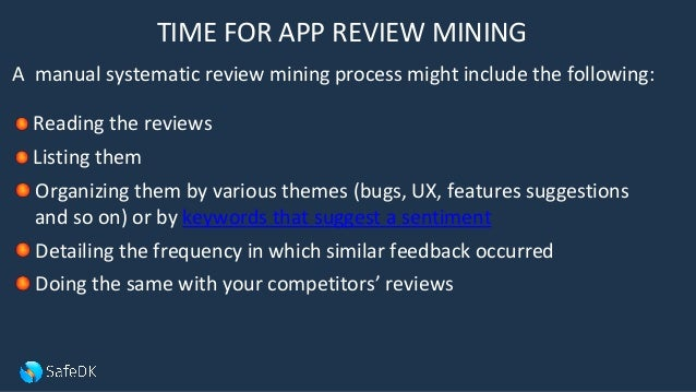 Why developers must analyze their apps store reviews and how
