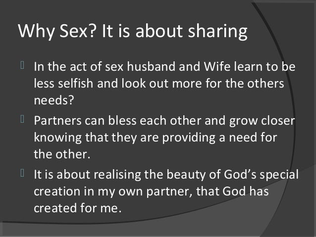 Wife sharing for sex