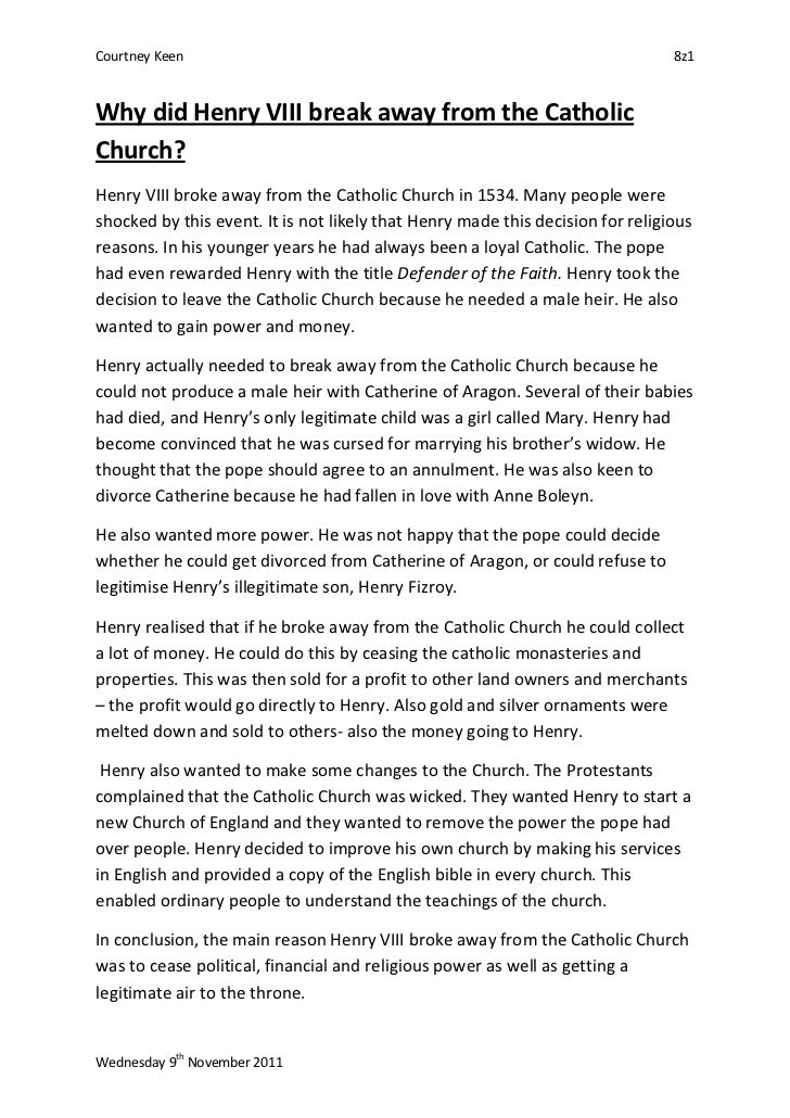 henry v111 essay