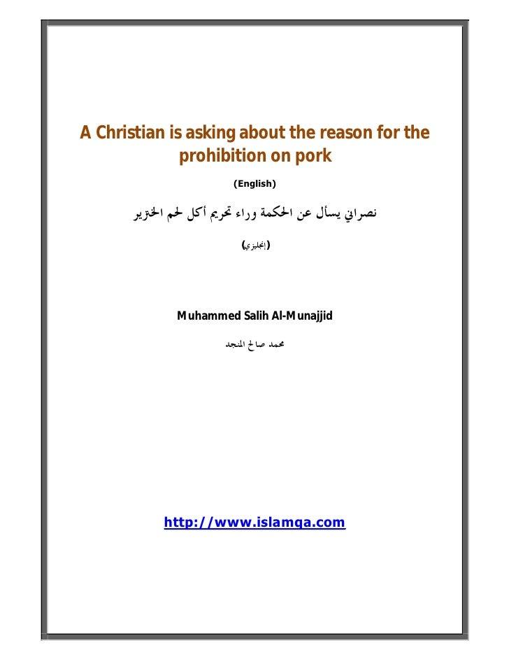 Why Does Islam Forbid Pork ? ( Islam Q&A ) Slide 2