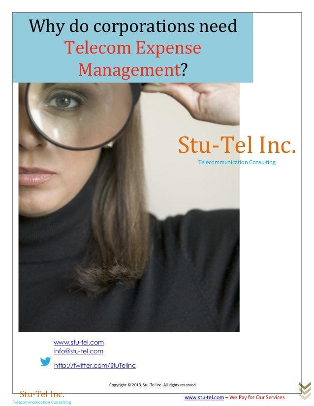 Copyright © 2013, Stu-Tel Inc. All rights reserved.Stu-Tel Inc.Telecommunication Consultingwww.stu-tel.com – We Pay for Ou...