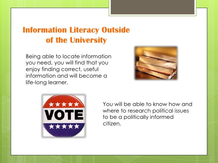 fostering citizen information literacy essay Digital literacy and citizenship in the 21st century educating, empowering, and protecting america's kids  they need to raise kids to be informed digital citizens.
