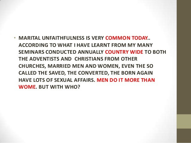Have Men Affairs Women Why With Married