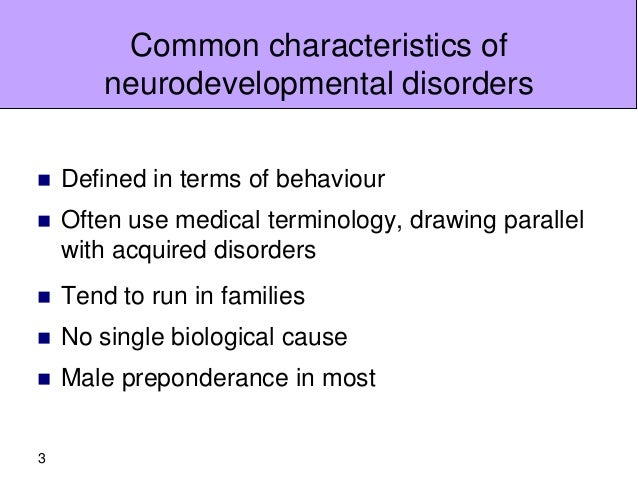 Why do neurodevelopmental disorders co-occur?