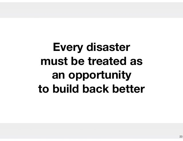 Why do risk and disaster management matter