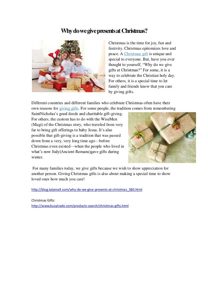 Why do we give presents at christmas tatamall blog for Why christmas is the best holiday