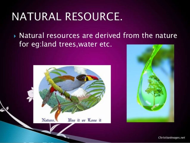 Why Do Humans Need Natural Resources