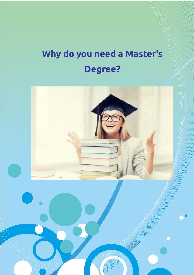 Why do a masters thesis