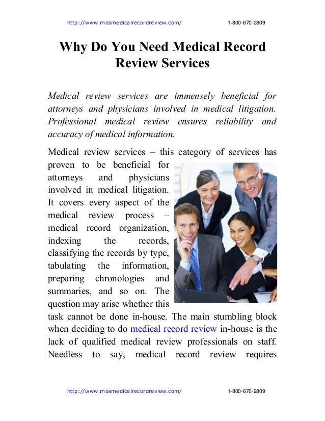 http://www.mosmedicalrecordreview.com/18006702809 Why Do You Need Medical R...