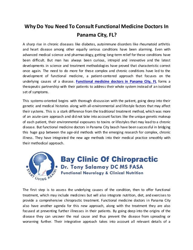 Why Do You Need To Consult Functional Medicine Doctors In Panama City