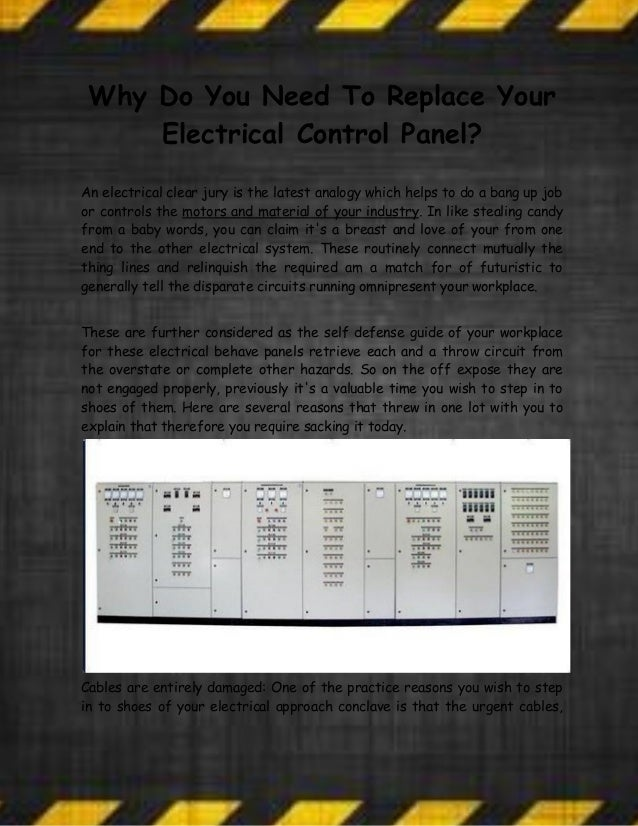 Why Do You Need To Replace Your Electrical Control Panel