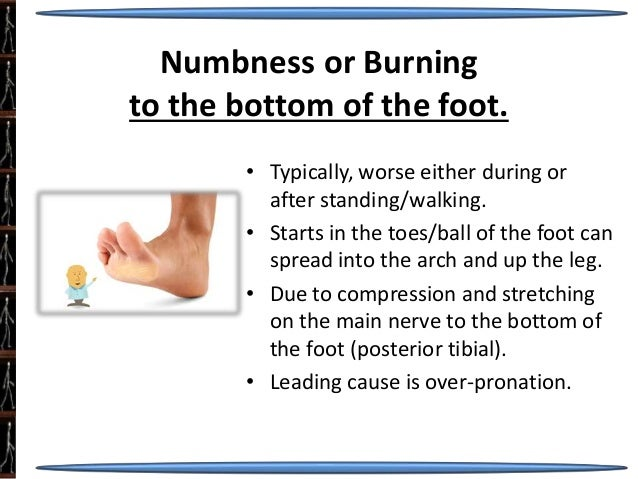 Numbness in bottom of foot