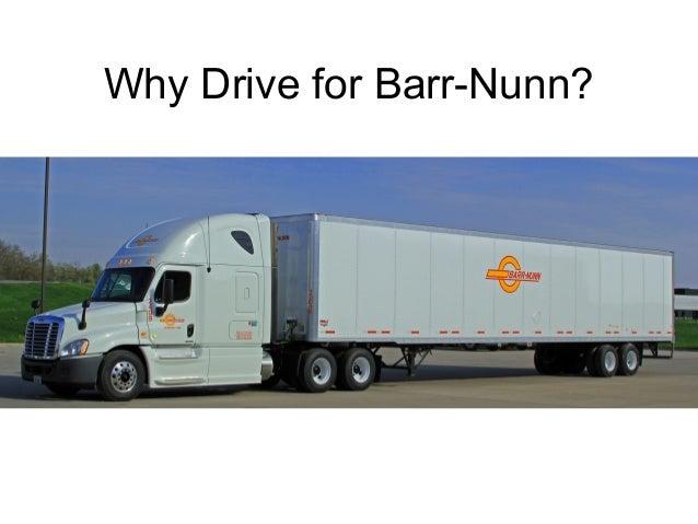 why drive for barr nunn