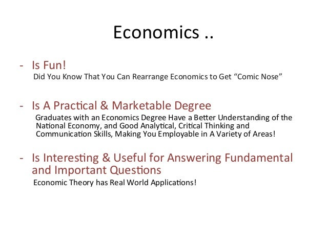 the study of economics is important Get an answer for 'why is the study of economics important to consumers' and find homework help for other social sciences questions at enotes.