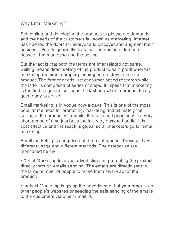 Why Email Marketing?Scheduling and developing the products to please the demandsand the needs of the customers is known as...