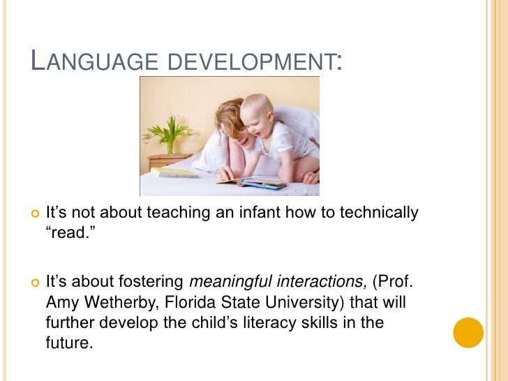 """Language development:<br />It's not about teaching an infant how to technically """"read.""""<br />It's about fostering meaningf..."""