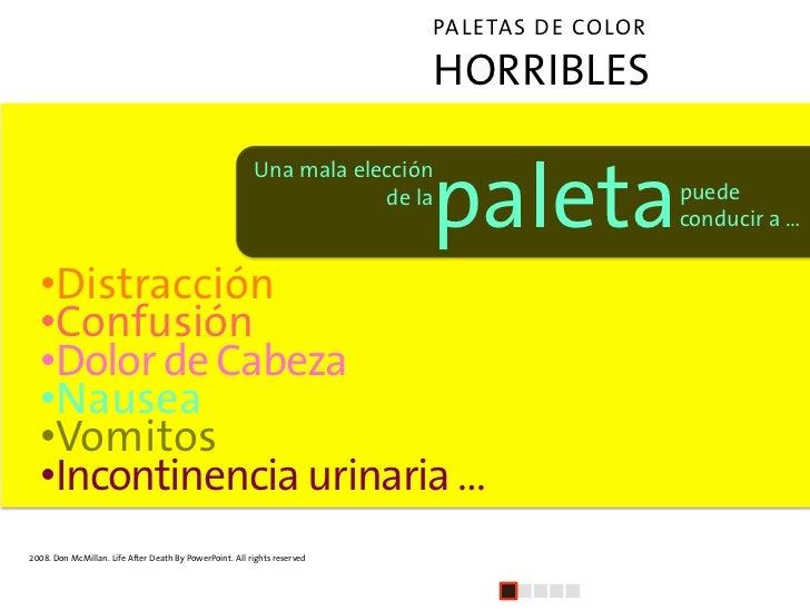 PALETAS DE COLOR                                                                               HORRIBLES                  ...