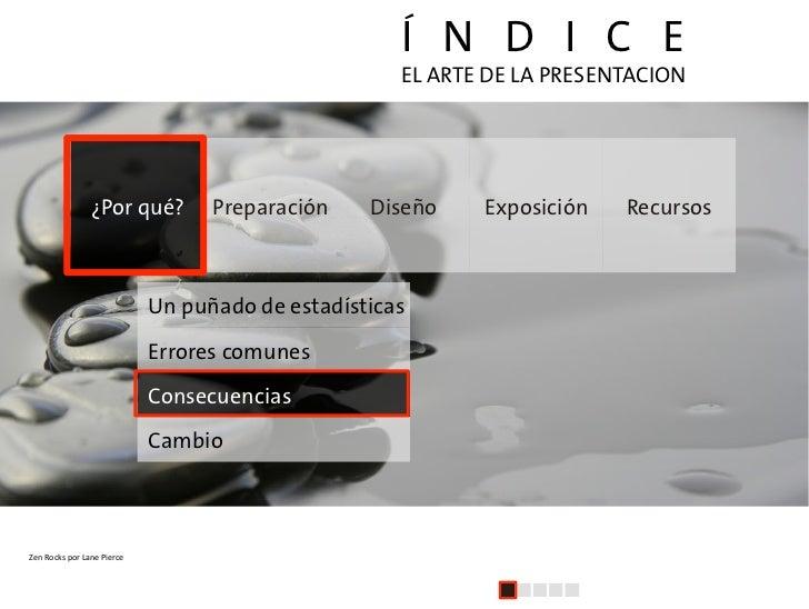 Í N D I C E                                                                     EL ARTE DE LA PRESENTACION                ...