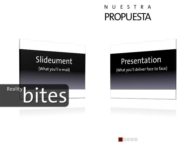 N U E S T R A                    PROPUESTA                   +       bites Reality